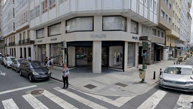 Tienda de Uterqüe en la plaza de Lugo