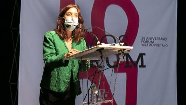 La alcaldesa Inés Rey en el acto del 25 aniversario.