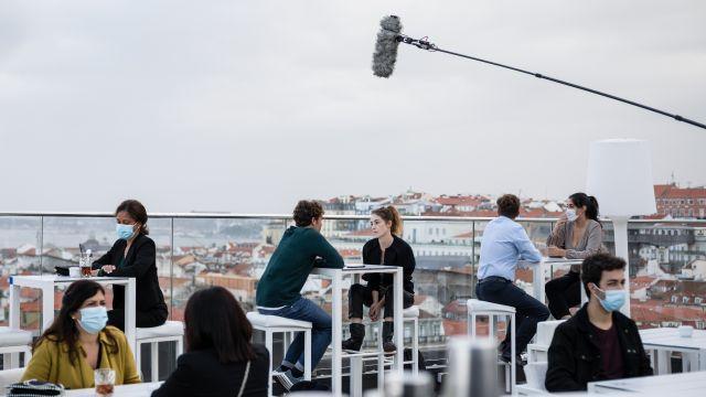 Imagen del rodaje de 'Auga Seca' en Vigo (©filipefeio)
