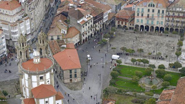 Vista aérea de Pontevedra.