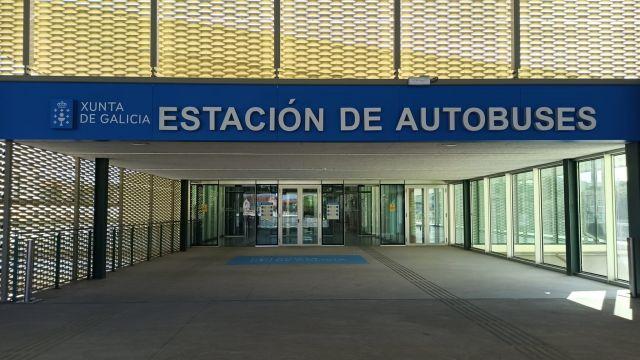 La estación intermodal de Santiago de Compostela.