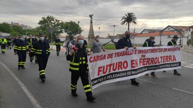 Trabajadores de Navantia exigen mayor carga de trabajo.