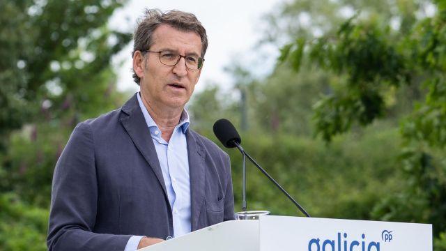 El presidente del PPdeG, Alberto Núñez Feijóo, en la Junta Directiva del partido.