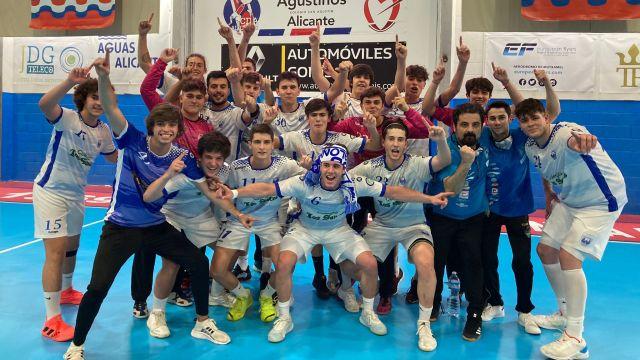 El Cisne Colegio Los Sauces celebra su victoria (Foto: Twitter @ClubCisneBalonm)