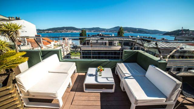 Azotea del Hotel Maroa en Vigo