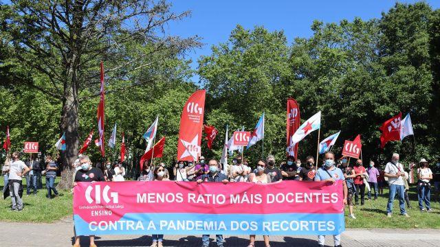 Protesta ante la Xunta.