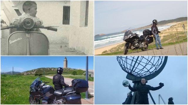 Imágenes de los viajes de 'De Ferrol al mundo en moto'.