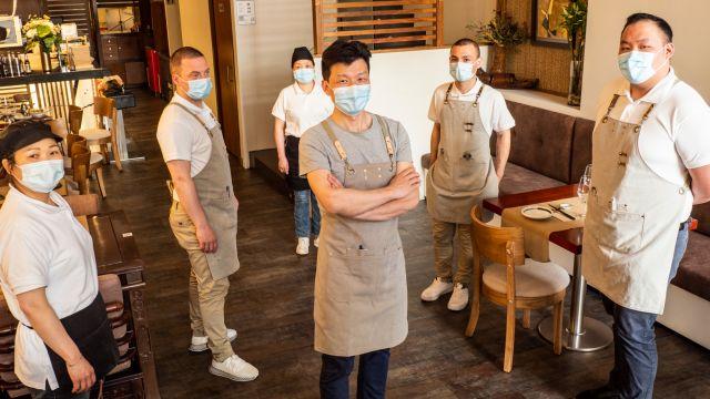 El equipo del restaurante Shouri Concept de A Coruña