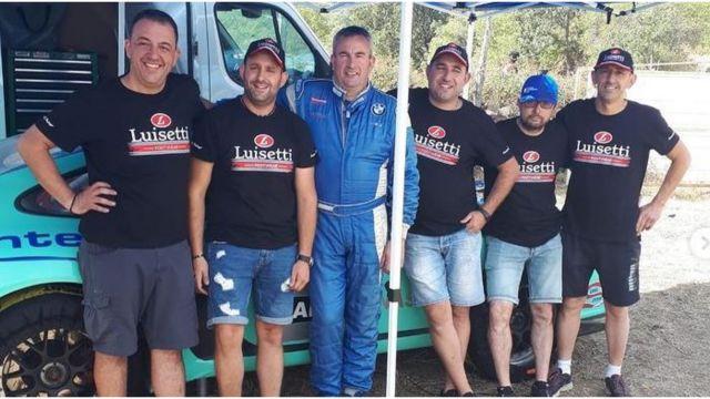 Víctor Magariños con su equipo en una foto de su perfil de instagram.