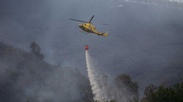 Incendio en Folgoso do Courel.