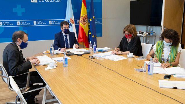 Reunión del Consello Galego de Universidades, celebrado esta mañana.