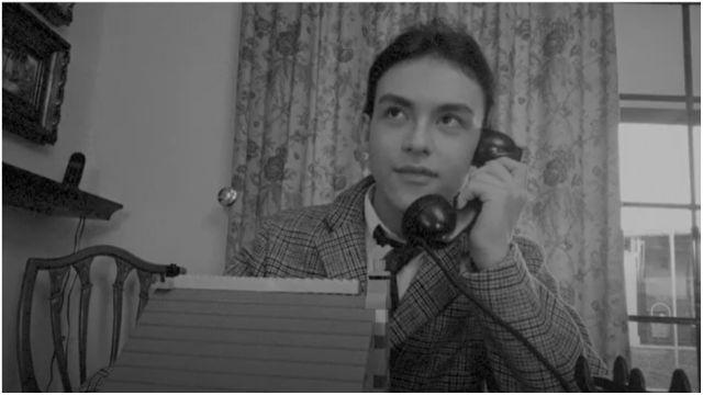 Alumno interpretando a Rodolfo Ucha.