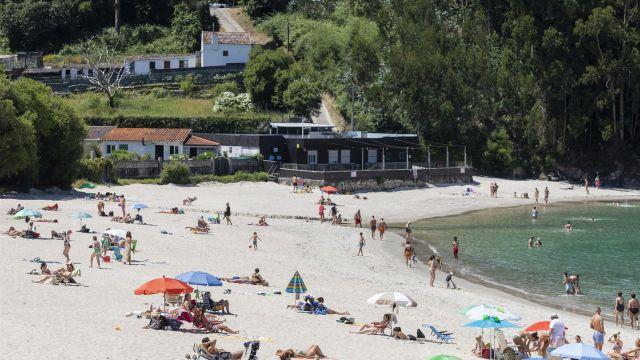 Una playa de Marín (Pontevedra).