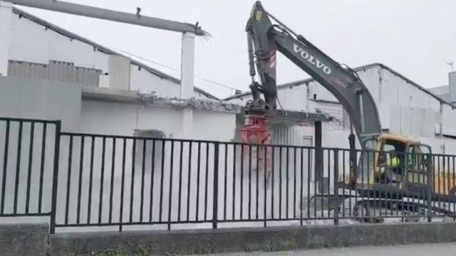 Trabajos de demolición del Comcor