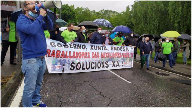 Trabajadores en Santiago de Compostela.