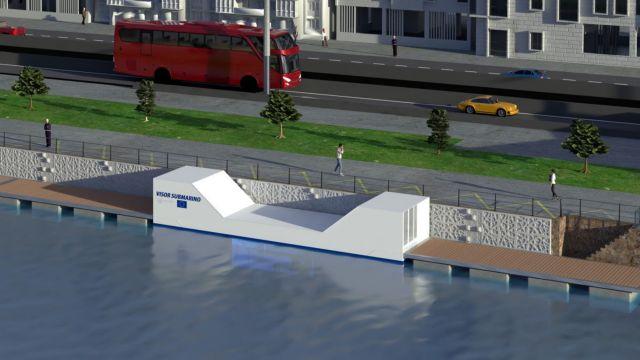 Infografía de la infraestructura que se instalará en el Puerto de Vigo.