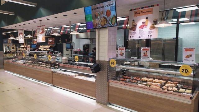 Nueva sección de comida para llevar en el Eroski de Betanzos (A Coruña).