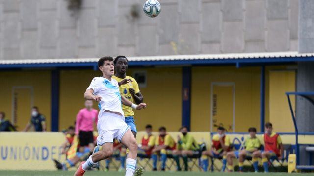 Imagen del partido entre Deportivo y Las Palmas Juvenil
