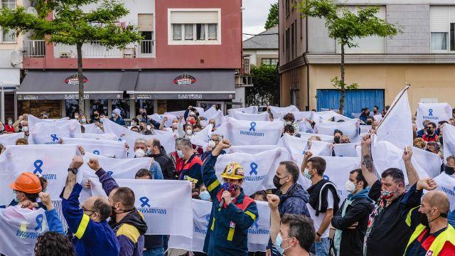 Nueva manifestación en San Cibrao (Lugo)