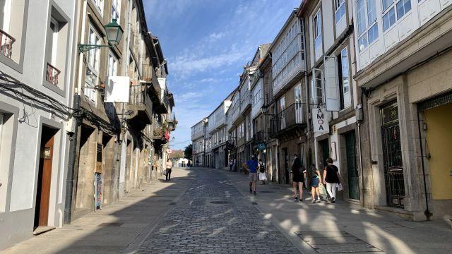 El Barrio de San Pedro, en Santiago de Compostela.