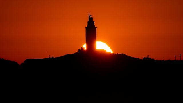 Atardecer en A Coruña.