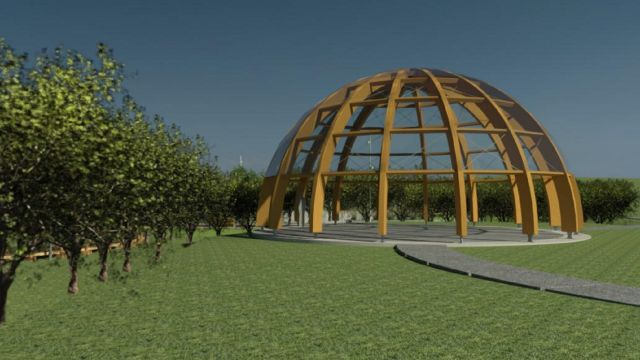 La cúpula del nuevo parque de Arteixo.