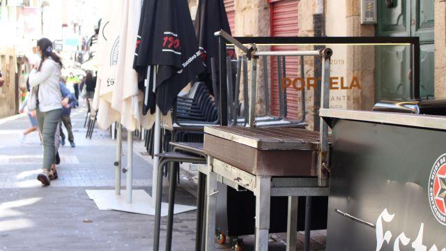 Parrilla para una sardiñada este San Juan en A Coruña.