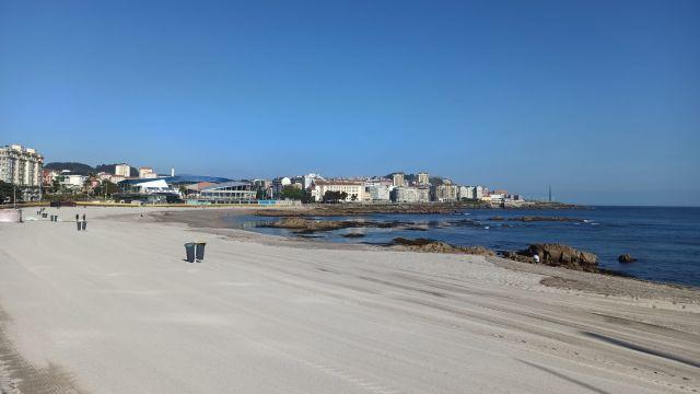 La playa de Riazor, en A Coruña.