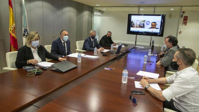 Reunión de la Xunta con representantes del ocio nocturno gallego.