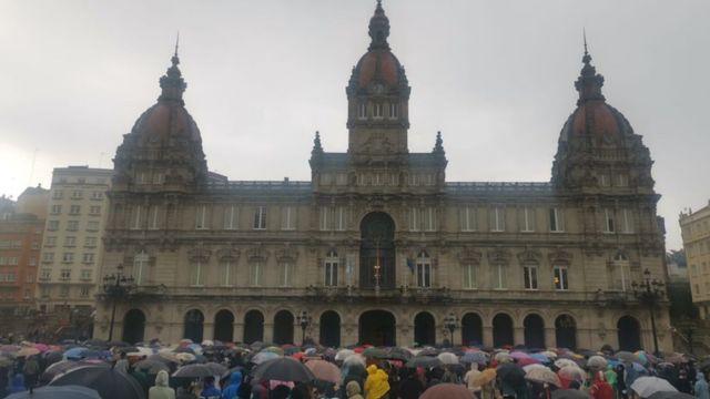 Cocentración en A Coruña en repulsa por el asesinato de Samuel.