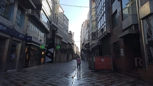 La calle Real, en A Coruña.