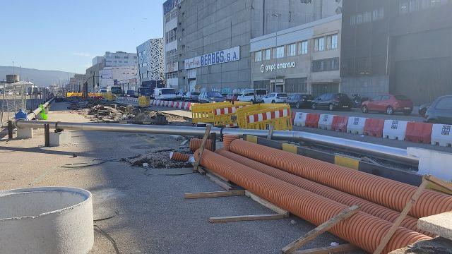 Obras de acondicionamiento en Avenida Beiramar