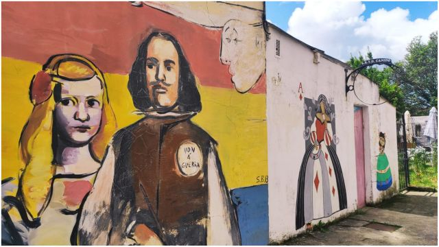 Mural en el barrio de Canido.
