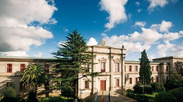 Fachada principal del Pazo do Hórreo, sede del Parlamento de Galicia, en una foto de archivo.