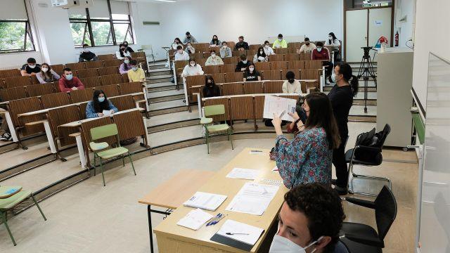 Exámenes de selectividad en la Facultad de Psicología de la Universidad de Santiago de Compostela.