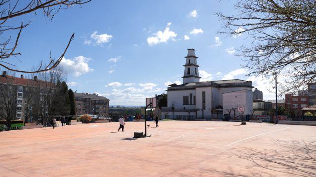 La plaza de Vilaboa, en el municipio coruñés de Culleredo.