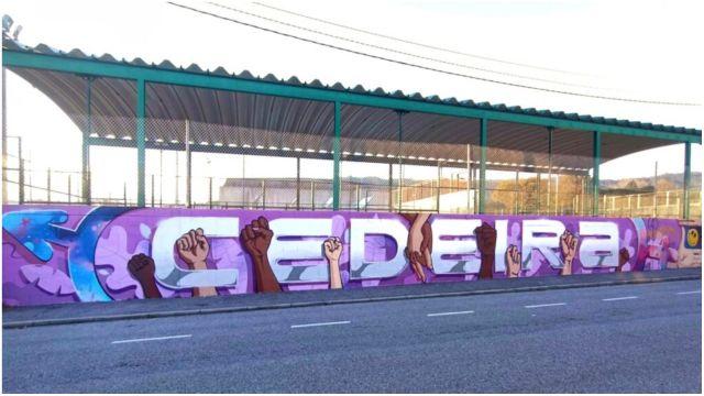 Mural en el IES Punta Candieira.