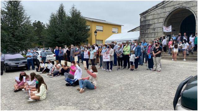 Protesta en Monfero.