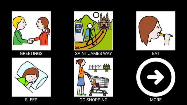 Algunos de los pictogramas disponibles la app