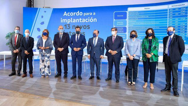 Presentación de los 13 nuevos másteres que se implantarán en las universidades públicas gallegas en 2023/24.