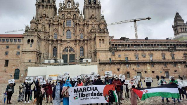 """Foto de archivo de la """"La marcha por la libertad del pueblo saharaui"""""""