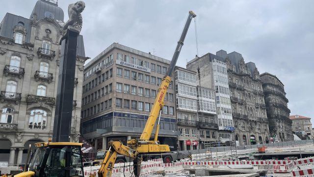 Obras de la Puerta del Sol de Vigo.