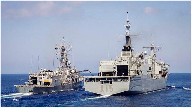 El buque 'Cantabria', de la Armada.