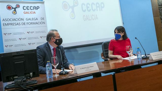 La conselleira de Emprego e Igualdade, María Jesús Lorenzana, interviene en la asemblea xeral da Confederación Española de Empresas de Formación (Cecap).