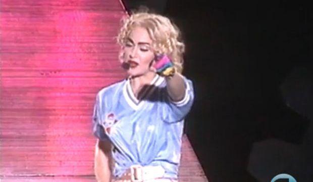 Madonna vistiendo la camiseta del Celta en Balaídos