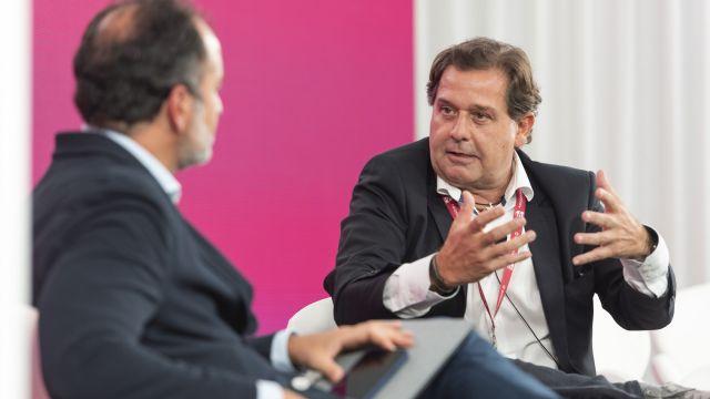 Ignacio Rivera durante su intervención en O Encontro.