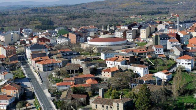 Vista aérea de Monterroso (Lugo).