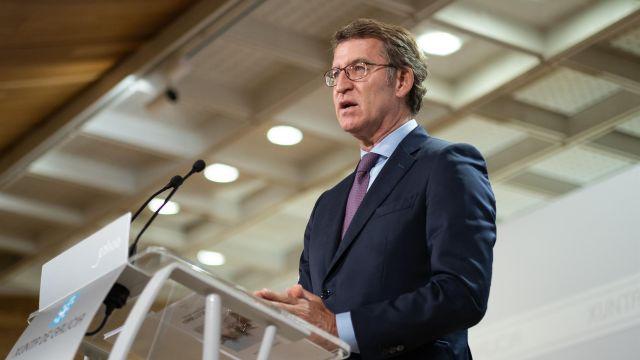 El presidente del Gobierno gallego, Alberto Núñez Feijóo, en rueda de prensa tras la reunión semanal del Consello da Xunta.