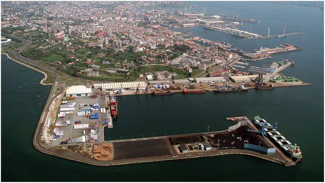 Vista aérea del Puerto Interior.