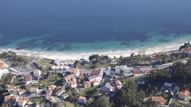 La playa de San Francisco, situada en el municipio coruñés de Muros.